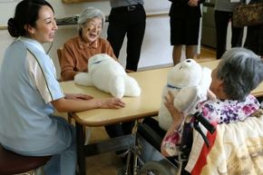 Interaction with Paro robots can be as effective as live-animal therapies for patients with cognitive disorders.