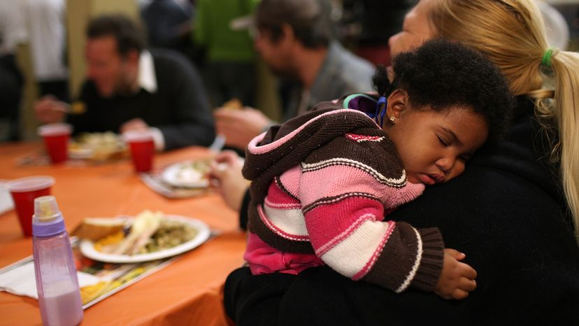 baby, shelter, meal, Thanksgiving