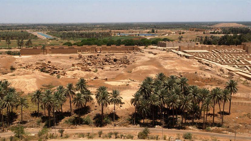 Saddam Hussein palace, Babylon ruins