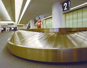 The baggage carousel