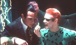 Two-Face and Riddler, party for three