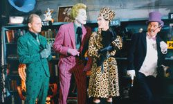"""The Riddler, the Joker, Catwoman and the Penguin ham it up in the 1966 film """"Batman."""" See more Batman pictures."""