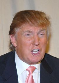 Some men grow their remaining hair longer on one side of their head and use it to cover, or comb-over, their bald spot. Donald Trump is one famous example.