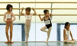 Ballet dancers train from a very young age to make their leaps and jumps look easy.