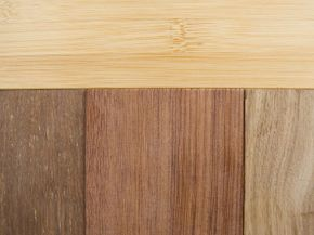 Premium bamboo hardwood flooring planks come in a variety of designs and colors.