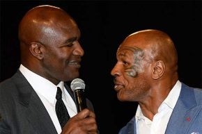 Decades after Mike Tyson took a bite out of Evander Holyfield's ear during a fight, Tyson inducted Holyfield into the Nevada Boxing Hall of Fame in 2014. The two former boxers share something else in common: Both have declared bankruptcy