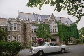 Mike Tyson's house with his Rolls Royce parked in front in his pre-bankruptcy days.