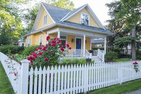 Depending on the kind of bankruptcy you filed and who you're getting your loan through, you might be able to buy a cute little house like this in just a few years.