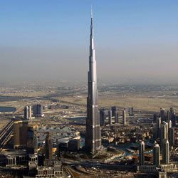 In 2010, two men were allowed to jump off Dubai's Burj Khalifa Tower, the tallest structure in the world.