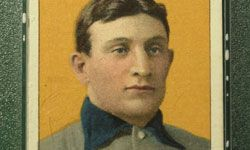 The T206 Honus Wanger is one of the most famous baseball cards. See more baseball pictures.