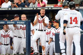 Stop through Atlanta's Turner Field to see future Hall-of-Famer Chipper Jones take the field. See more pictures of sports.