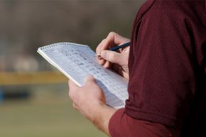 A baseball scorecard lets you record every detail of the action on the field.
