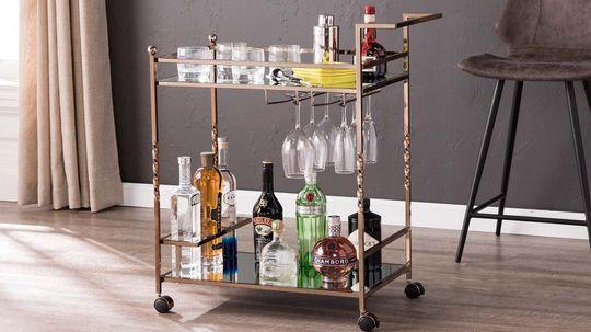 How to Stock a Beautiful Bar Cart