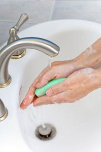 Washing your hands frequently helps prevent illness, but should you use bar or liquid soap? See more pictures of unusual skin care products.