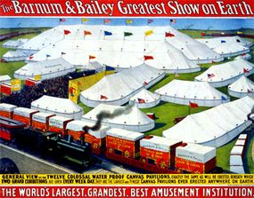 Advertising poster for Barnum & Bailey Greatest Show on Earth, c. 1899