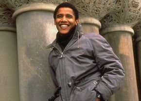 Barack Obama, shortly after he was elected the first African American president of the Harvard Law Review in 1990.