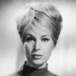 American actress Barbara Eden with a bouffant hairdo.