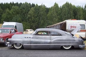 A bare metal Buick Series 50