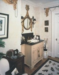 This French-style bath is full of enchanting details.
