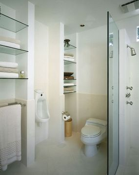 Separate shower and toilet areas complete the luxury of this bathroom.
