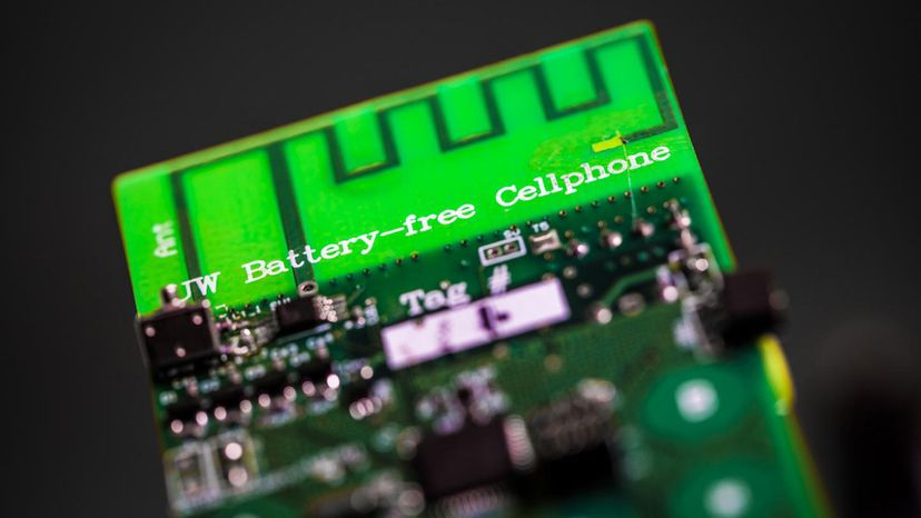 UW engineers have designed the first battery-free cellphone that can send and receive calls using only a few microwatts of power. Mark Stone/University of Washington