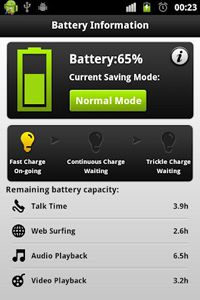 Battery Saver is one of numerous apps that offer several user profiles customized to specific smartphone user profiles. Pick the right profile and you'll save power; pick the wrong one and you may use more power than without the app.