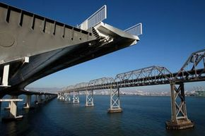 A new eastern span of the Bay Bridge is under construction.
