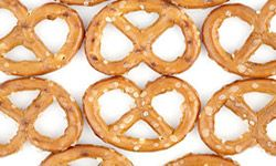 Need some fuel to power you through a game of beach volleyball? Try a pretzel.