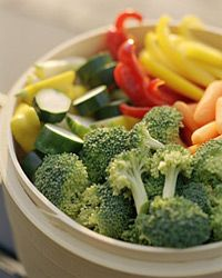 If you want a simple beach snack, veggies and dip make great choices.