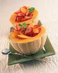 Fruit salad is a delicious, refreshing and simple snack for the beach.