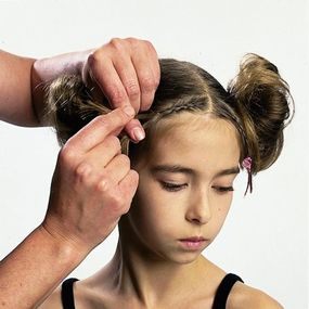 Mom can help you create this cute hairdo in a snap!