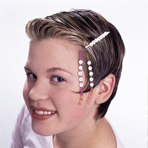 Let the beads dangle to the side when you wear this dainty barrette.