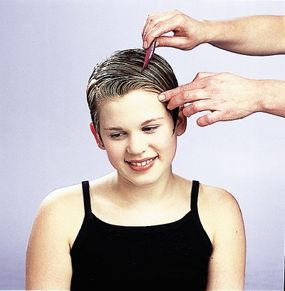 Mom can help you create this friends forever hairdo!