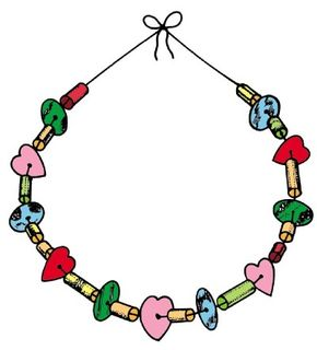 Ordinary household items can become a beautiful necklace.