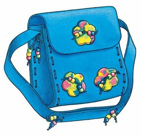Your funky foam purse is ready to rock and roll!