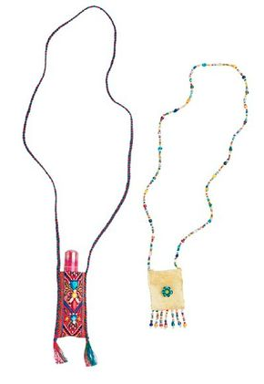 These beaded purses can be worn around the neck.