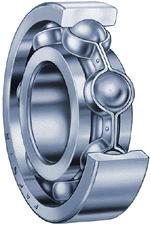 Cutaway view of a ball bearing