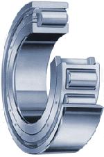 Cutaway view of a roller bearing
