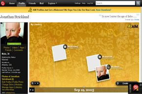 Bebo's My Lifestory page organizes photos, videos and other content chronologically.