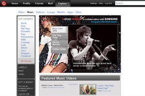 Bands can create profiles on Bebo and share music through the site.