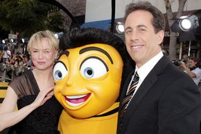 """Renée Zellweger and Jerry Seinfeld at the """"Bee Movie"""" premiere"""