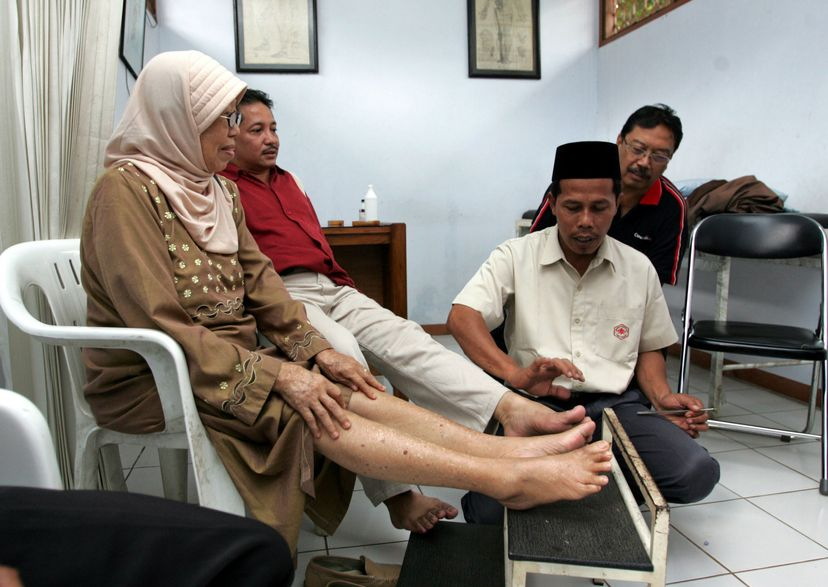 A bee sting therapist's clinic in Jakarta, Indonesia.