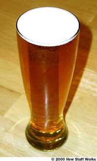 A Pilsner glass
