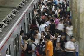 The busy Beijing subway will help Olympic visitors get around town.
