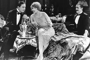 """Actors Bela Lugosi and Martha Mansfield in the 1923 film """"Silent Command."""""""