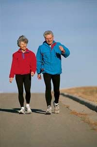 Walking can help you maintain good health and prevent disease. See more exercise pictures.