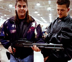 The U.S. is the most heavily armed country, with 90 guns for every 100 people. See more pictures of guns.