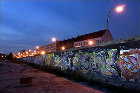 The longest surviving piece of the Berlin Wall is a stretch called the East Side Gallery.