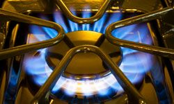 Gas burners provide precise heat -- right when you need it.