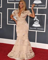 Beyonce Knowles at the 52nd Annual Grammy Awards in Los Angeles in 2010.